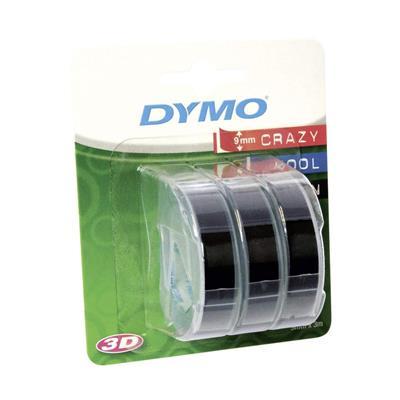 Εικόνα της Ετικέτες Dymo Stamping 9mm x 3m White On Black 3 Τεμάχια S0847730