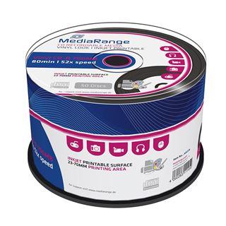 Εικόνα της Vinyl Black Dye CD-R 700MB 80' Printable 52x MediaRange Cake Box 50 Τεμ MR226