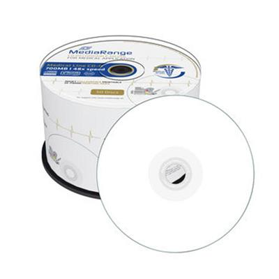 Εικόνα της Medical Line CD-R 700MB 80' Inkjet Fullsurface Printable 48x MediaRange Cake Box 50 Τεμ MR229