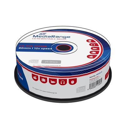 Εικόνα της CD-RW 700MB 80' 12x Rewritable MediaRange Cake Box 25 Τεμ MR235-25