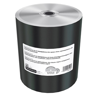 Εικόνα της CD-R 700MB 80' Unprinted Wide Sputtered 52x MediaRange Professional Line Shrink 100 Τεμ MRPL507-M