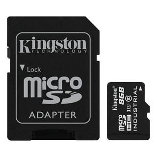 Εικόνα της Κάρτα Μνήμης SDHC Kingston Industrial Temperature 8GB + SD Adapter UHS-I Class 10 SDCIT/8GB