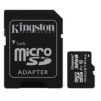 Εικόνα της Κάρτα Μνήμης SDHC Kingston Industrial Temperature 32GB + SD Adapter UHS-I CLASS 10 SDCIT/32GB