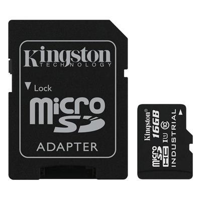 Εικόνα της Κάρτα Μνήμης SDHC Kingston Industrial Temperature 16GB + SD Adapter UHS-I Class 10 SDCIT/16GB