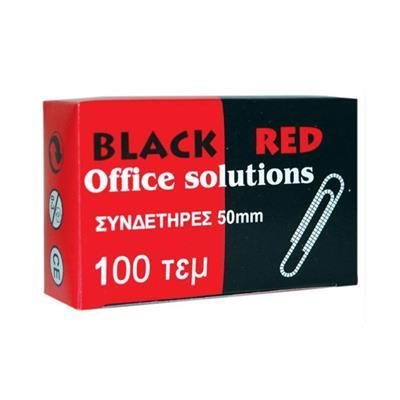 Εικόνα της Συνδετήρες Κατσαροί Black-Red No 5 Ασημί 100 Τεμάχια 314515