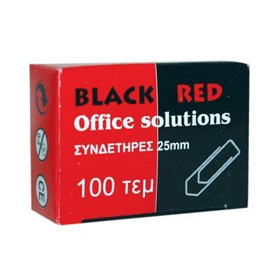 Εικόνα της Συνδετήρες Μεταλλικοί Black-Red No 2 Ασημί 100 Τεμάχια 301002