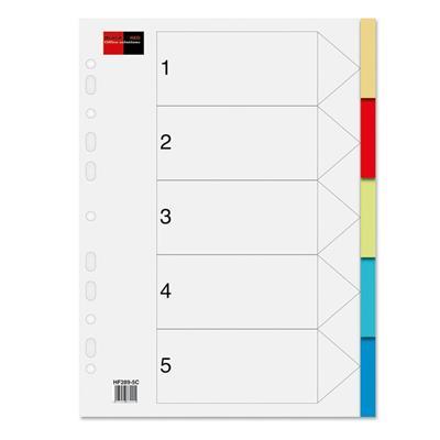 Εικόνα της Πλαστικά Διαχωριστικά A4 5 Θεμάτων Black Red Χρωματιστά 158105