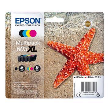 Εικόνα της Πακέτο 4 Μελανιών Epson 603XL Black, Cyan, Magenta και Yellow C13T03A64010