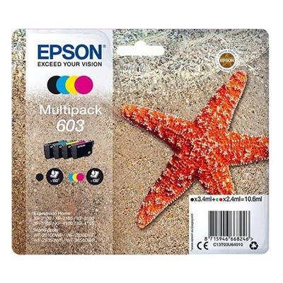 Εικόνα της Πακέτο 4 Μελανιών Epson 603 Black, Cyan, Magenta και Yellow C13T3U64010