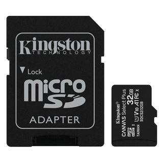 Εικόνα της Κάρτα Μνήμης MicroSDHC Class 10 Kingston Canvas Select Plus 100R A1 32GB + SD Adapter SDCS2/32GB
