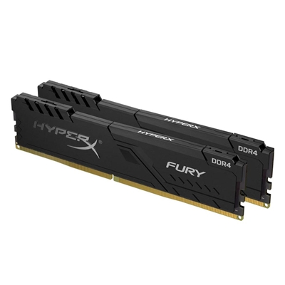 Εικόνα της Ram HyperX Fury 32GB DDR4 2666MHz CL16 (Kit of 2 x 16GB) Black HX426C16FB3K2/32