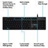 Εικόνα της Πληκτρολόγιο Logitech G512 Carbon RGB Mechanical GX Blue Switch 920-008946