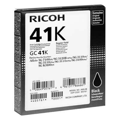 Εικόνα της Μελάνι Ricoh GC-41K Black 405761
