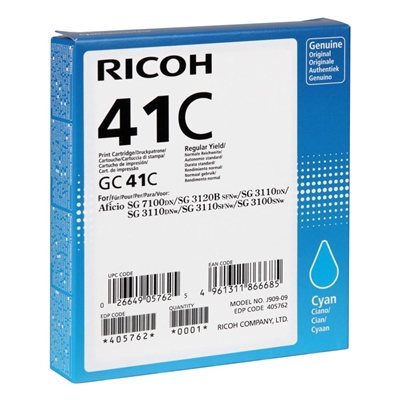 Εικόνα της Μελάνι Ricoh GC-41C Cyan 405762