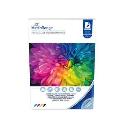 Εικόνα της Φωτογραφικό Χαρτί MediaRange για Inkjet Εκτυπωτές Α4 Matte 105g/m² 100 Φύλλα MRINK116