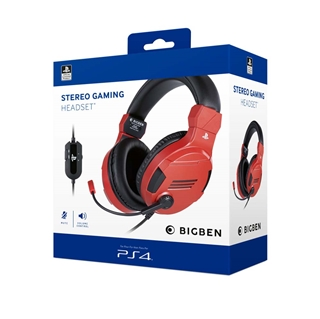 Εικόνα της Headset BigBen Official PS4 Gaming V.3 Red-Black