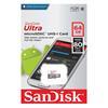Εικόνα της Κάρτα Μνήμης MicroSDHC Class 10 Sandisk Ultra 64GB 80MB/s with Adapter SDSQUNS-064G-GN3MA
