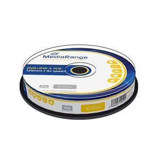 Εικόνα της DVD+RW 4.7GB 120' 4x Rewritable MediaRange Cake Box 10 Τεμ MR451