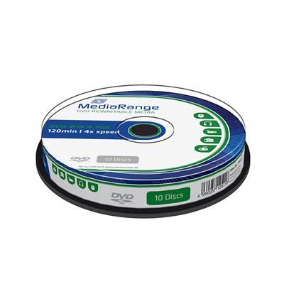 Εικόνα της DVD-RW 4.7GB 120' 4x Rewritable MediaRange Cake Box 10 Τεμ MR450