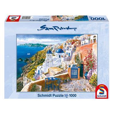 Εικόνα της Schmidt Spiele - Puzzle Park Σαντορίνη, Θέα 1000pcs 58560