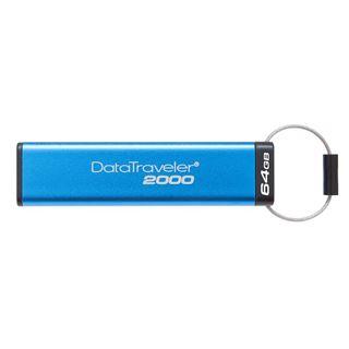 Εικόνα της Kingston Data Traveler 2000 64GB USB 3.1 with AES 256bit Hardware Encrypted DT2000/64GB