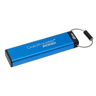Εικόνα της Kingston Data Traveler 2000 8GB USB 3.1 with AES 256bit Hardware Encrypted DT2000/8GB