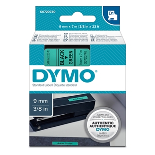 Εικόνα της Ετικέτες Dymo D1 Standard 9mm x 7m Black On Green 40919 S0720740