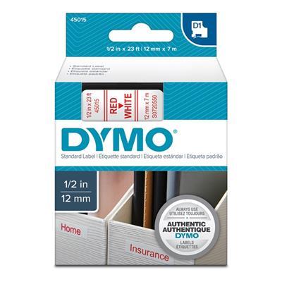 Εικόνα της Ετικέτες Dymo D1 Standard 12mm x 7m Red On White 45015 S0720550