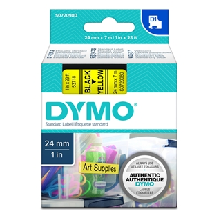 Εικόνα της Ετικέτες Dymo D1 Standard 24mm x 7m Black On Yellow 53718 S0720980