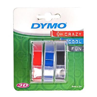 Εικόνα της Ετικέτες Dymo Stamping 3-Pack 9mm x 3m (Blue/Black/Red) S0847750