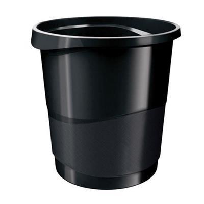 Εικόνα της Καλάθι Αχρήστων Πλαστικό Esselte Vivida 14LT Μαύρο 3966