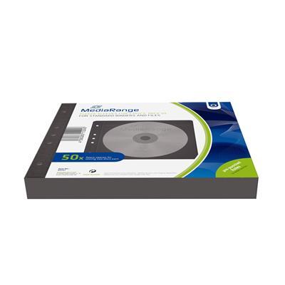 Εικόνα της MediaRange Fleece Sleeves for 2 discs Black Pack 50 BOX61