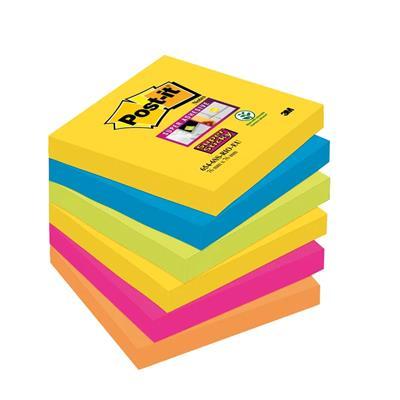 Εικόνα της Αυτοκόλλητα Χαρτάκια 3M Post-it 76 x 76 mm Super Sticky Rio Διάφορα Χρώματα - 90 Φύλλα