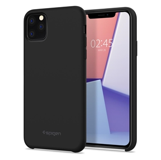 Εικόνα της Θήκη Spigen iPhone 11 Pro Max Silicone Fit Black 075CS27128