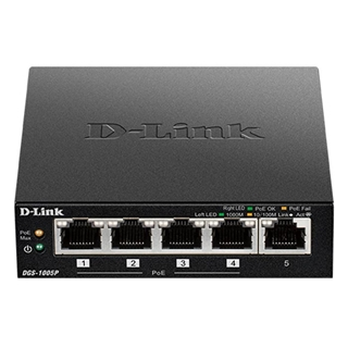 Εικόνα της Switch D-Link DGS-1005P 5-port 10/100/1000Mbps 4 PoE Ports