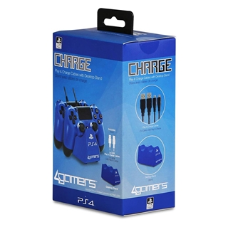 Εικόνα της 4Gamers Dual Charge 'N' Stand Blue (PS4) 5055269705987