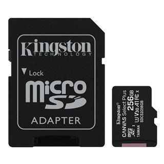 Εικόνα της Κάρτα Μνήμης MicroSDXC Class 10 Kingston Canvas Select Plus 100R A1 256GB + SD Adapter SDCS2/256GB