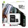 Εικόνα της Κάρτα Μνήμης MicroSDXC Class 10 Kingston Canvas Select Plus 100R A1 512GB + SD Adapter SDCS2/512GB