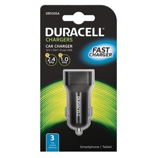 Εικόνα της Duracell Car Charger 3.4A Dual USB Black DR5035A