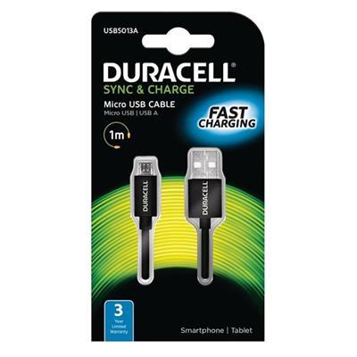 Εικόνα της Καλώδιο Duracell USB 2.0 A/Micro-USB B 1m Black USB5013A