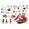 Εικόνα της Playmobil Pirates - Πειρατική Ναυαρχίδα 70411
