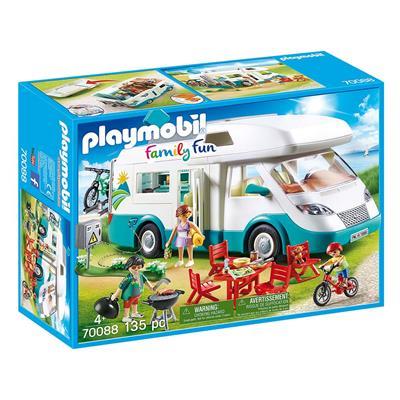 Εικόνα της Playmobil Family Fun - Αυτοκινούμενο Οικογενειακό Τροχόσπιτο 70088