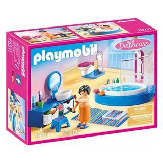 Εικόνα της Playmobil Dollhouse - Πολυτελές Λουτρό με Μπανιέρα 70211