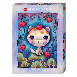 Εικόνα της Heye Puzzle - Dreaming - Strawberry Kitty 1000pcs 29895