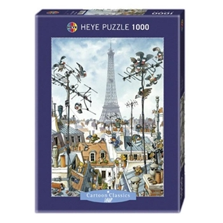 Εικόνα της Heye Puzzle - Cartoon Classics - Eiffel Tower 1000pcs 29358