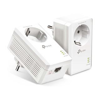 Εικόνα της Powerline Tp-Link TL-PA7017P Kit v4 AV1000 Passthrough Starter Kit