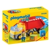Εικόνα της Playmobil 1.2.3 - Ανατρεπόμενο Φορτηγό Με Εργάτη 70126