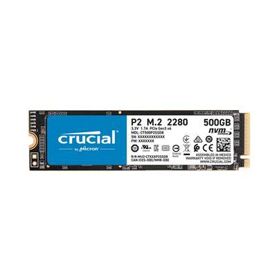 Εικόνα της Δίσκος SSD Crucial P2 M.2 Type 2280 NVMe 500GB CT500P2SSD8