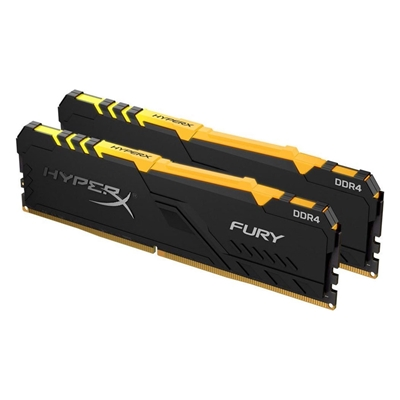 Εικόνα της Ram HyperX Fury RGB 16GB DDR4 3200MHz CL16 (Kit of 2 x 8GB) Black HX432C16FB3AK2/16