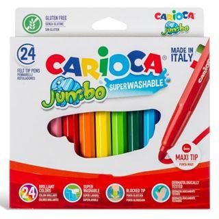 Εικόνα της Carioca - Μαρκαδόροι Jumbo 6mm Σετ. 24 Χρώματα 40570